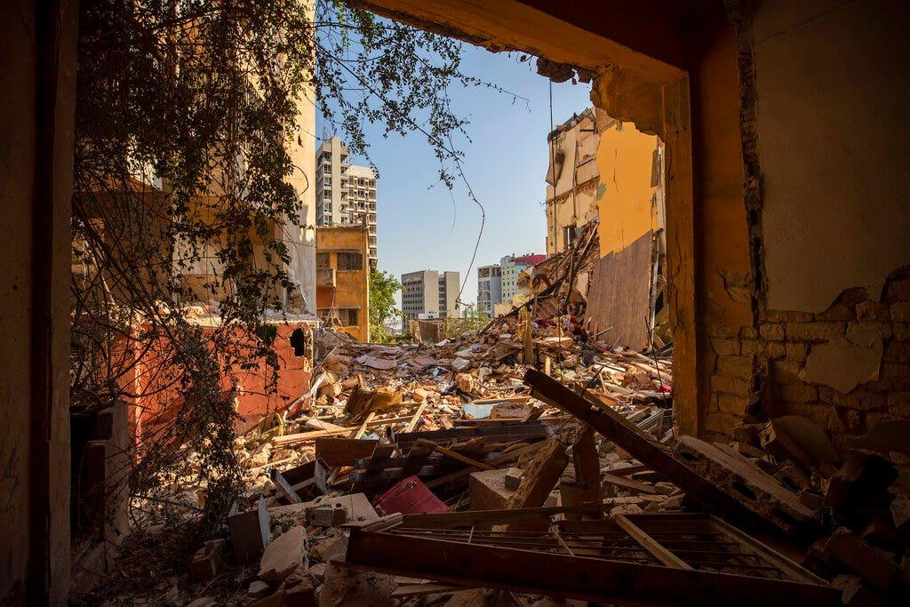 Lebanon, mired in crises, marks 1 year since horrific Beirut blast