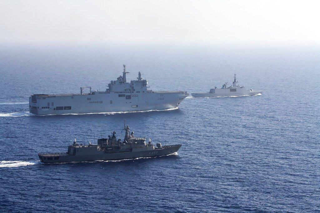 Pháp đưa lực lượng vào Đông Địa Trung Hải để dập tắt căng thẳng giữa Hy Lạp và Thổ Nhĩ Kỳ
