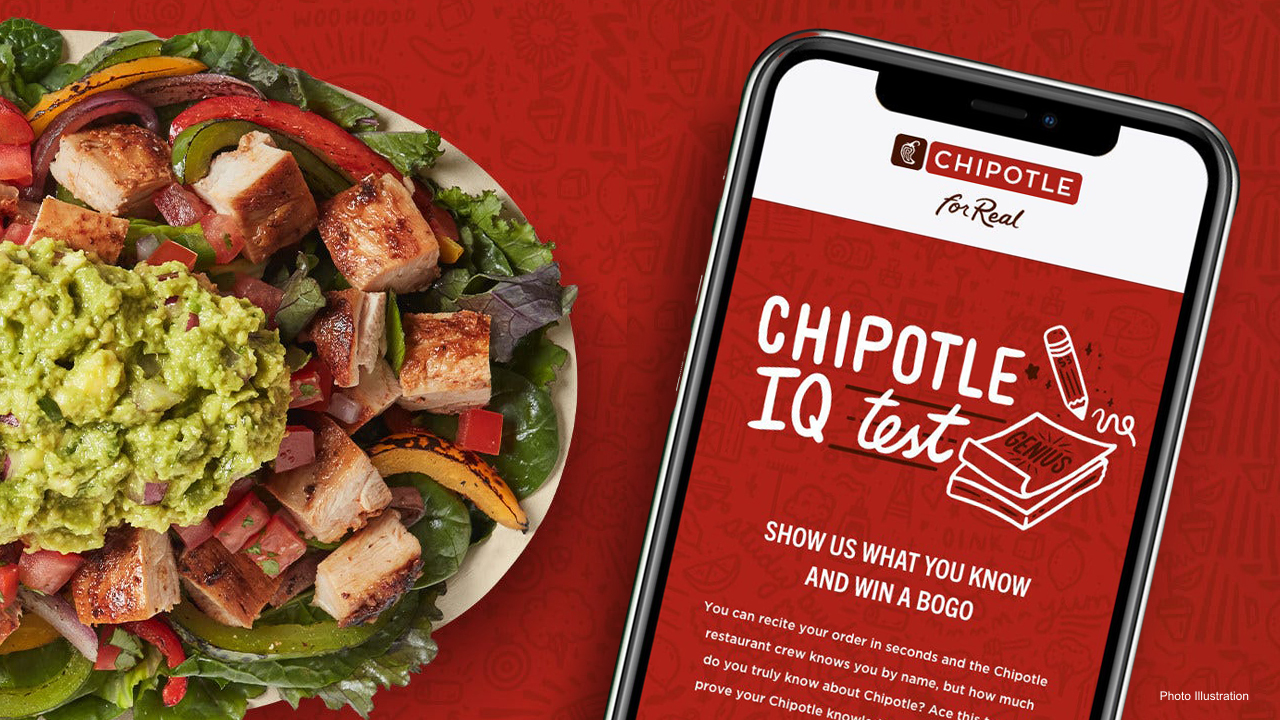 'Chipotle IQ' test offers prizes for first 250000 winners finds them by lunchtime – Fox News