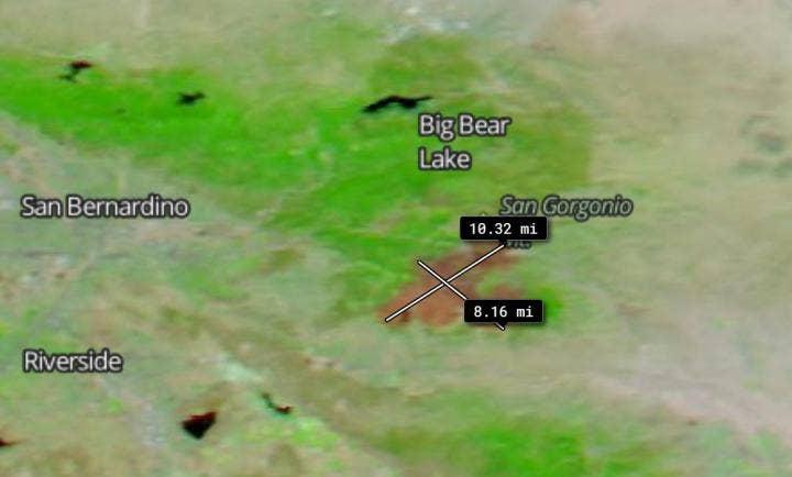 NASA satellite reveals Apple Fire burn scar