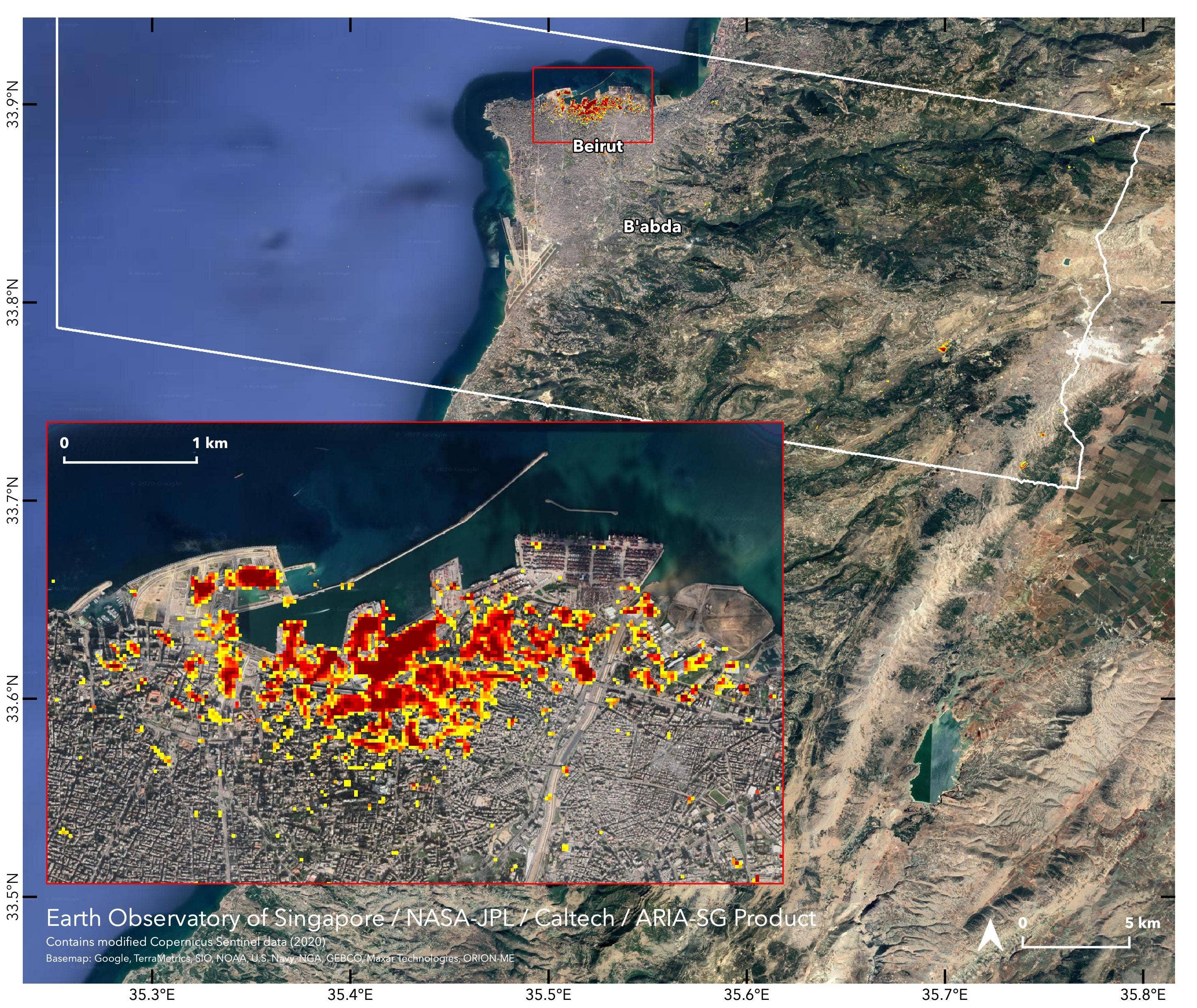 Beirut blast damage mapped by NASA using satellite data - Fox News