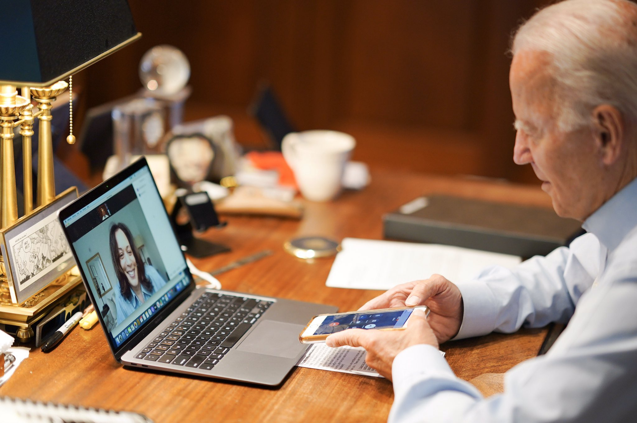 Keen observers point out unusual elements of Biden's Instagram post with Harris