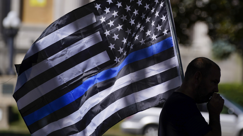 kenosha blue lives matter rally 1 AP.'