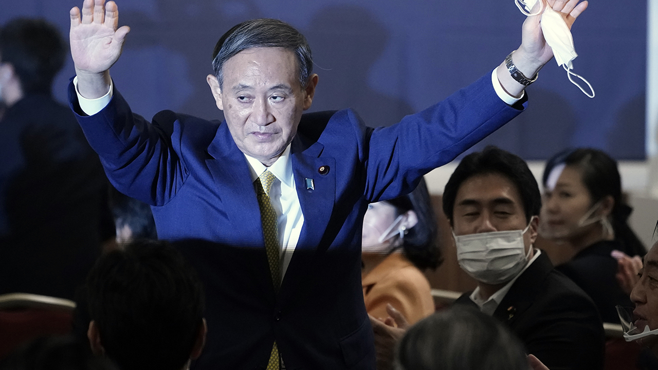 Suga wins party vote, to replace outgoing Abe...