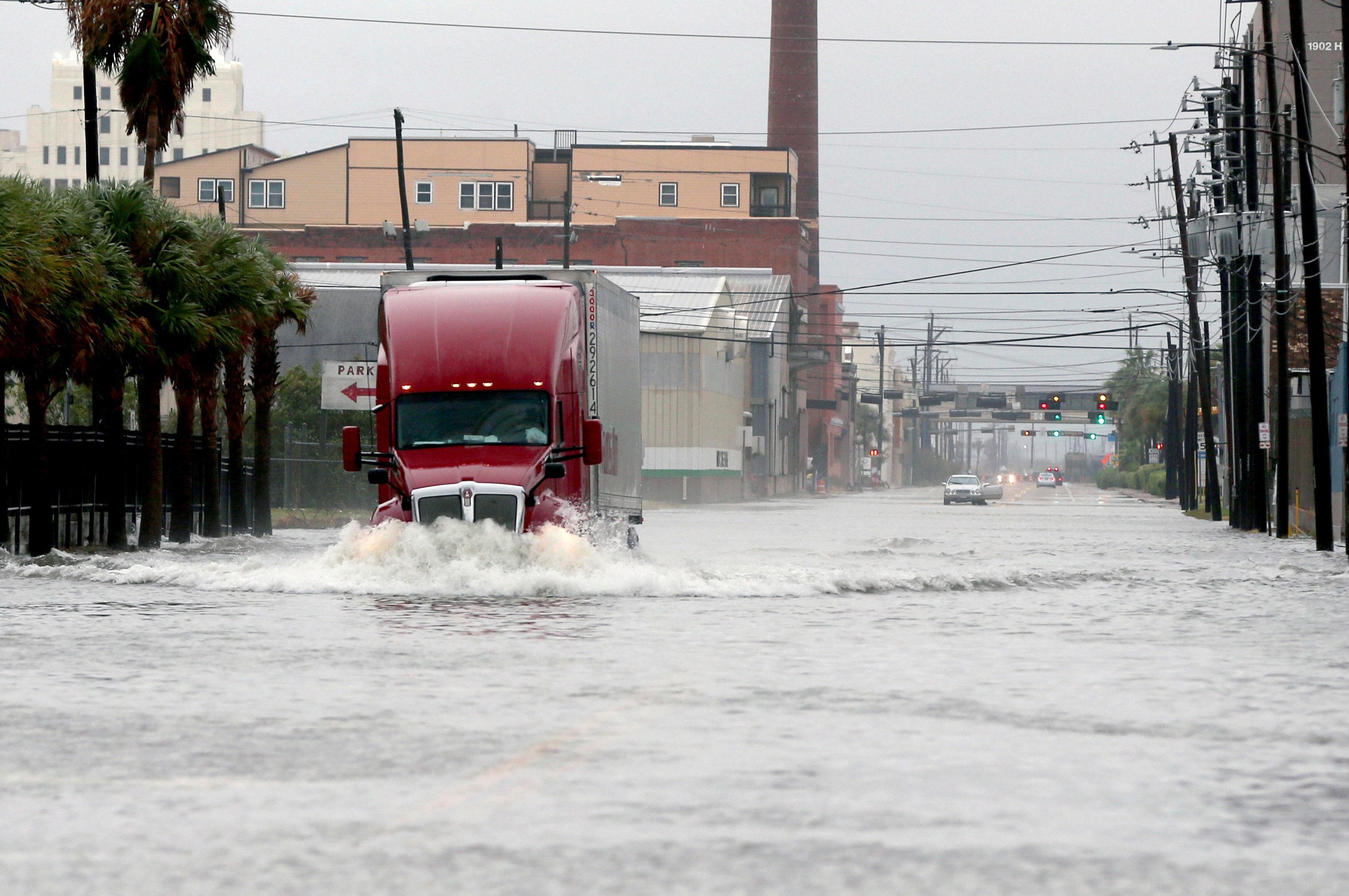 Tropical Storm Beta makes landfall, heavy rains...