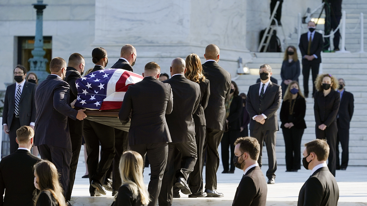 Justice Ruth Bader Ginsburg's casket arrives at Supreme Court to lie in repose – Fox News