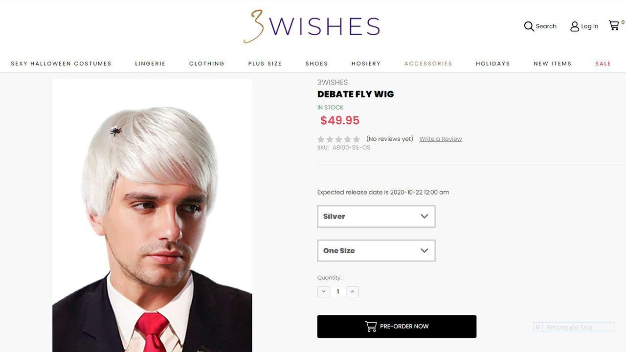Halloween store selling 'Debate Fly Wig' inspired by bug on Mike Pence's head at VP debate – Fox News