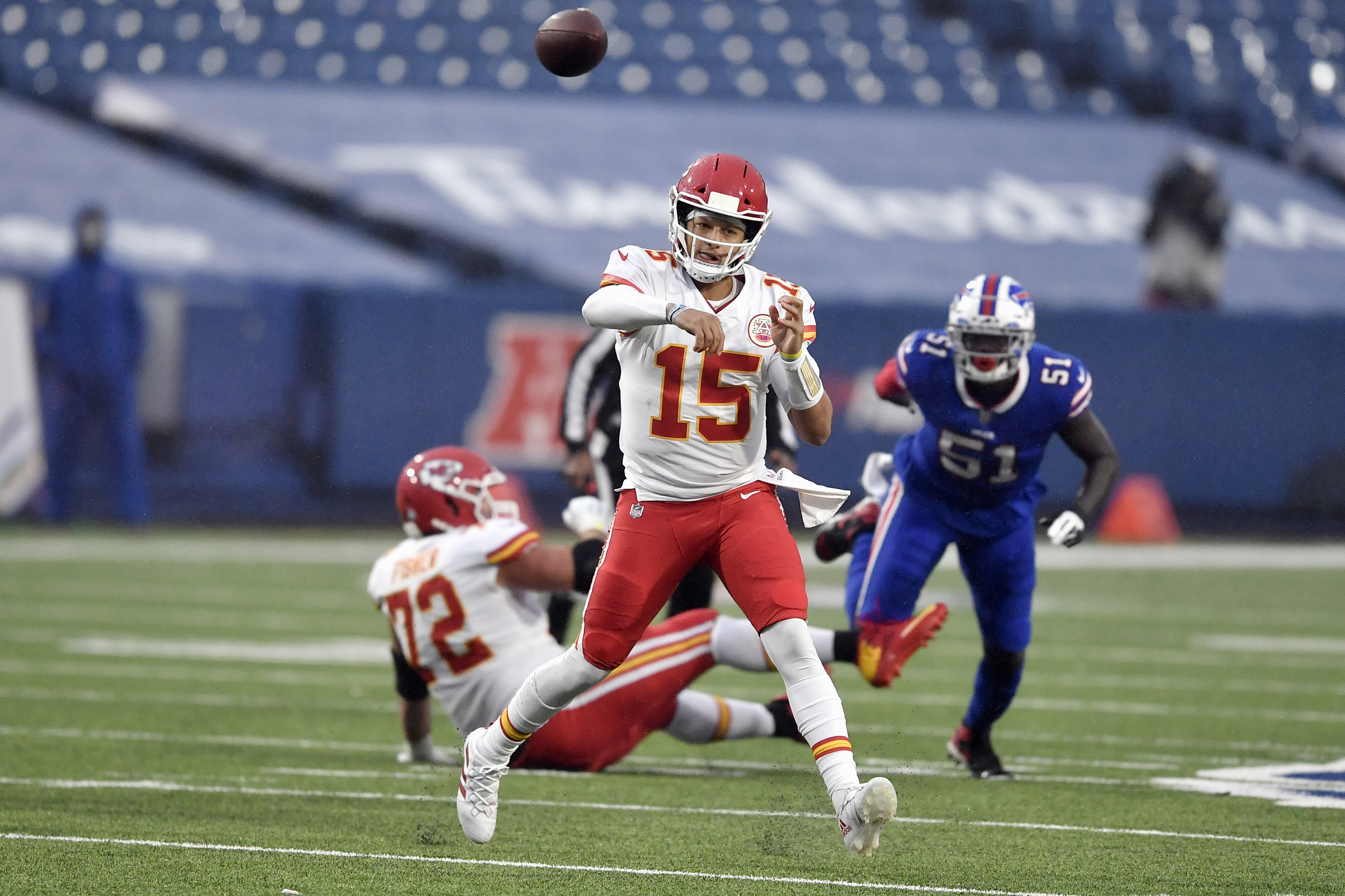 Chiefs quarterback Patrick Mahomes continues to progress with time