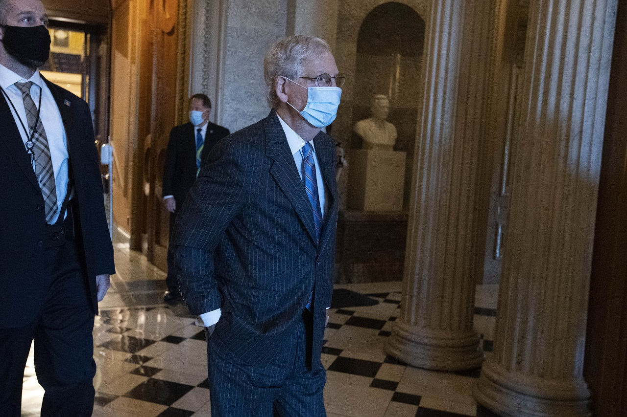 McConnell says nothing wrong with health after photos show bruises on hands