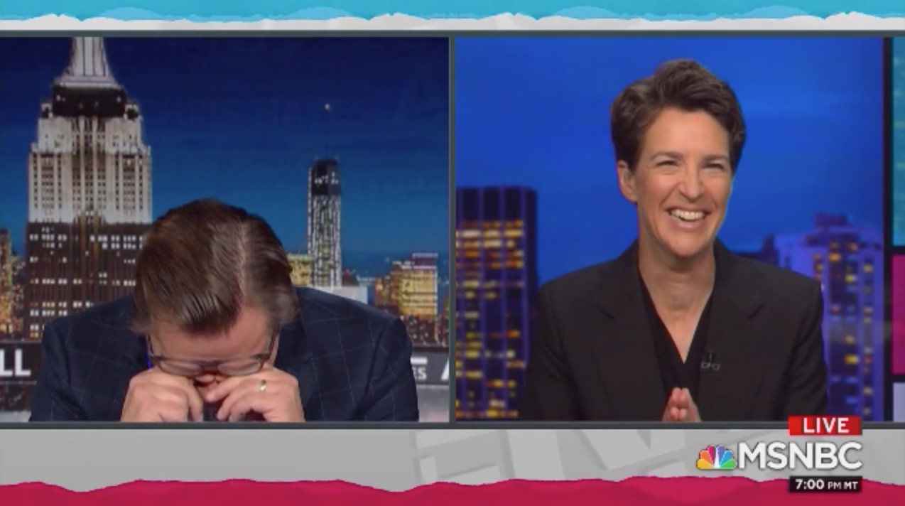 MSNBC's Maddow Hayes seem to laugh at CNN's Jeffrey Toobin – Fox News