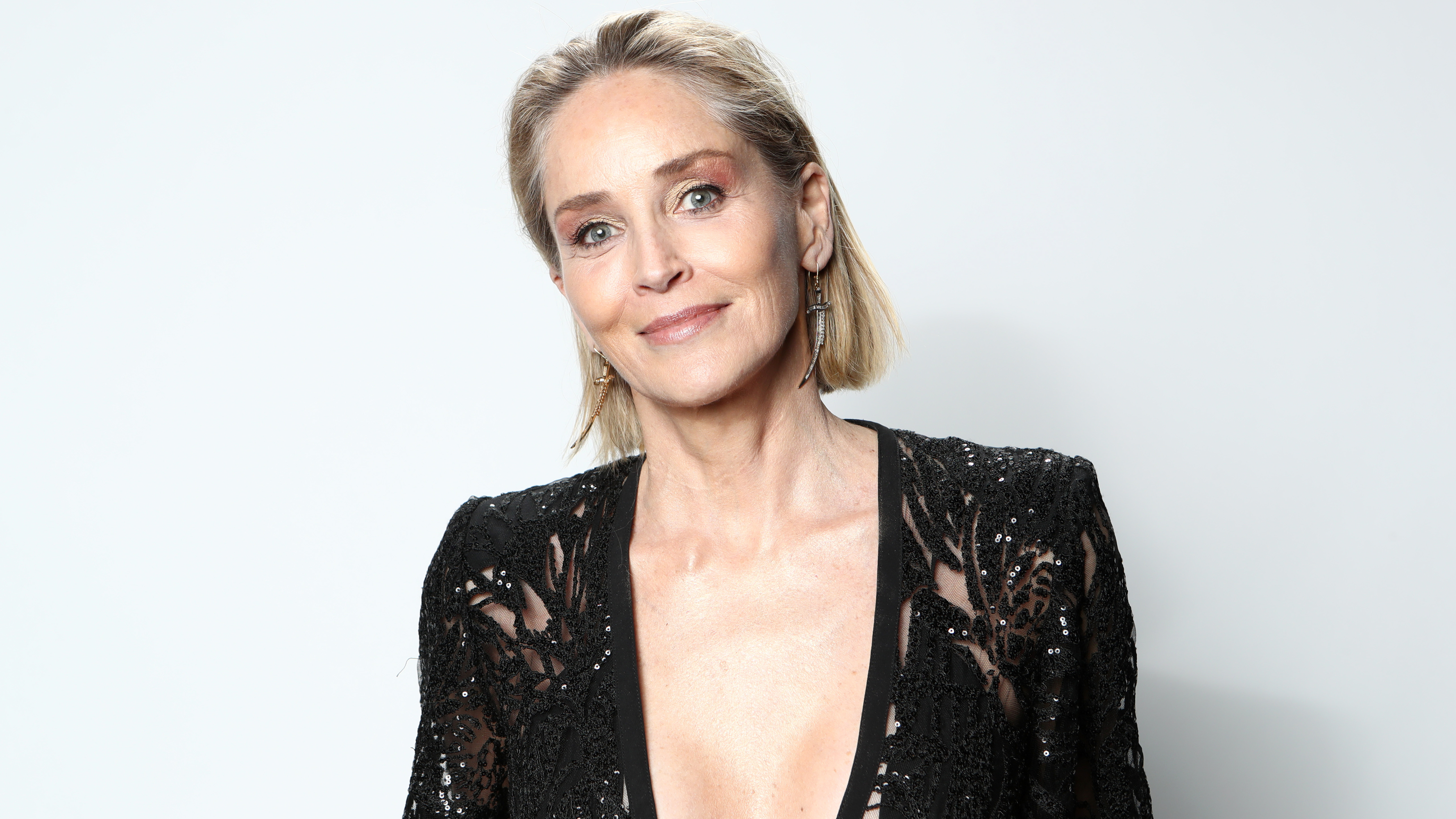 Sharon Stone says she's 'astounded' to still model at 62  image