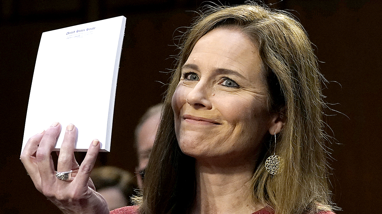 Image Amy Coney Barrett paints memorable picture during Supreme Court hearings