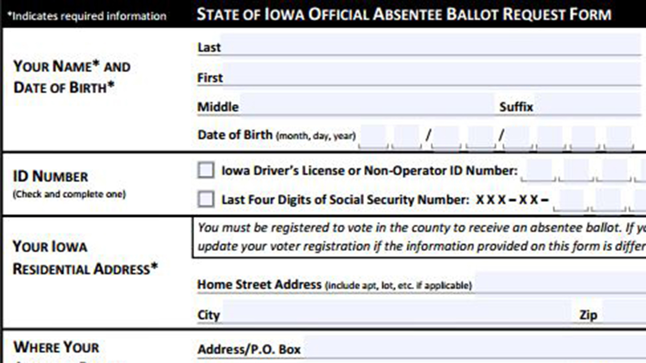 Iowa Supreme Court sides with Republicans on absentee ballot requests
