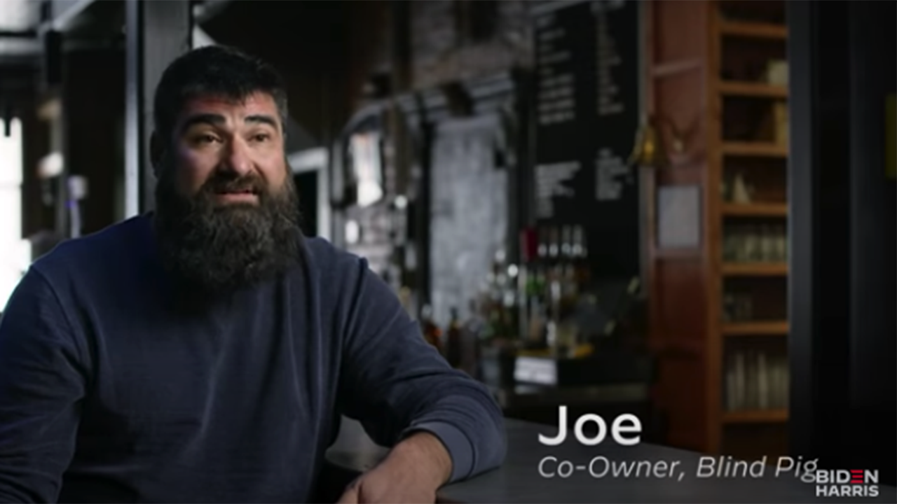 Biden campaign faces backlash for political ad depicting wealthy Democratic donor as struggling bar owner
