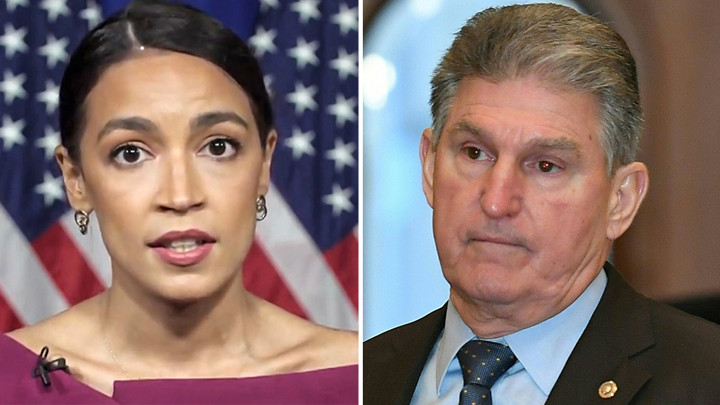 Joe Manchin responds to criticism from AOC: 'Not one' Dem senator supports defunding police