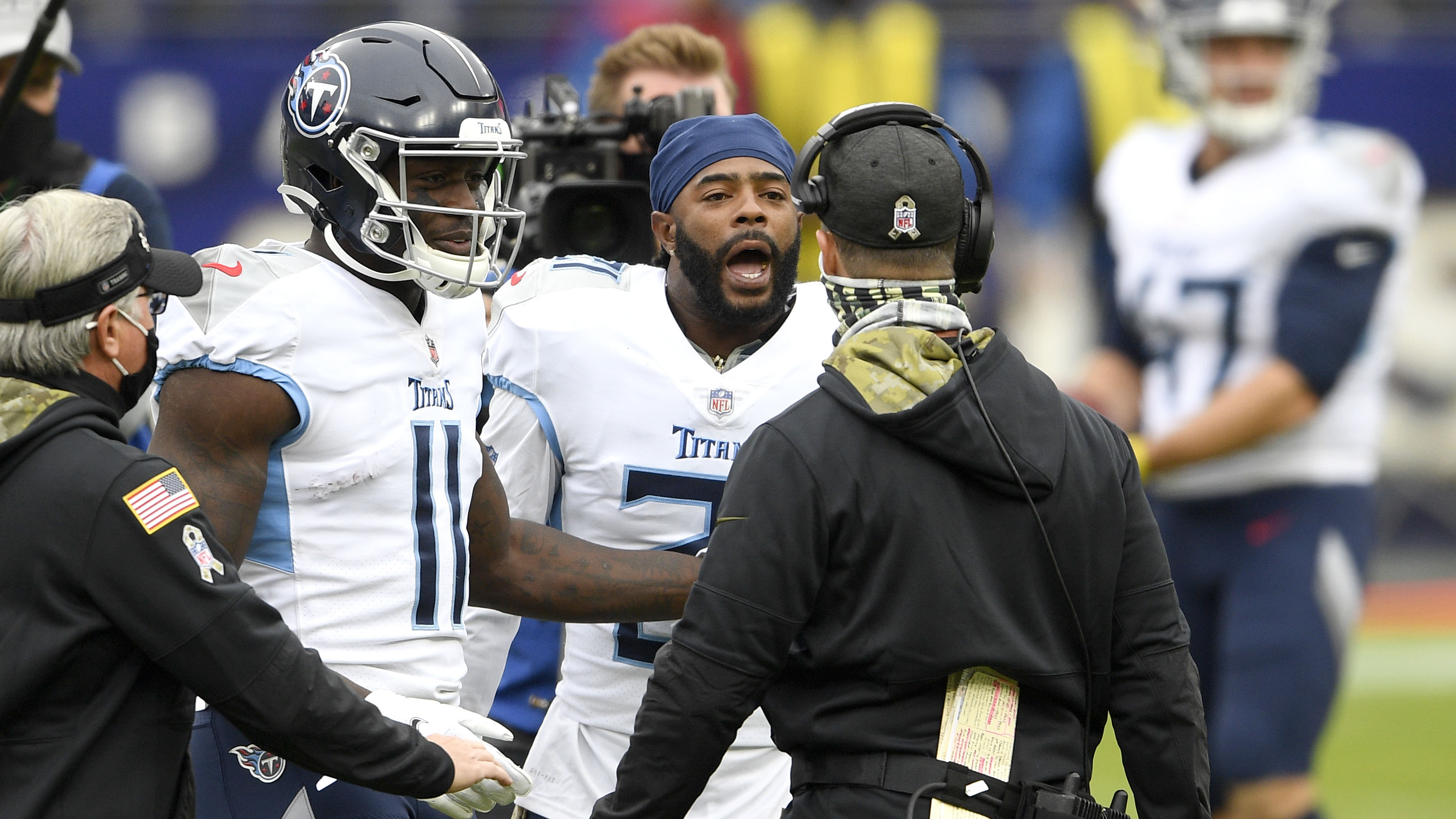 Ravens' John Harbaugh exchanges words with Titans' Malcolm Butler Mike Vrabel after pregame midfield display – Fox News