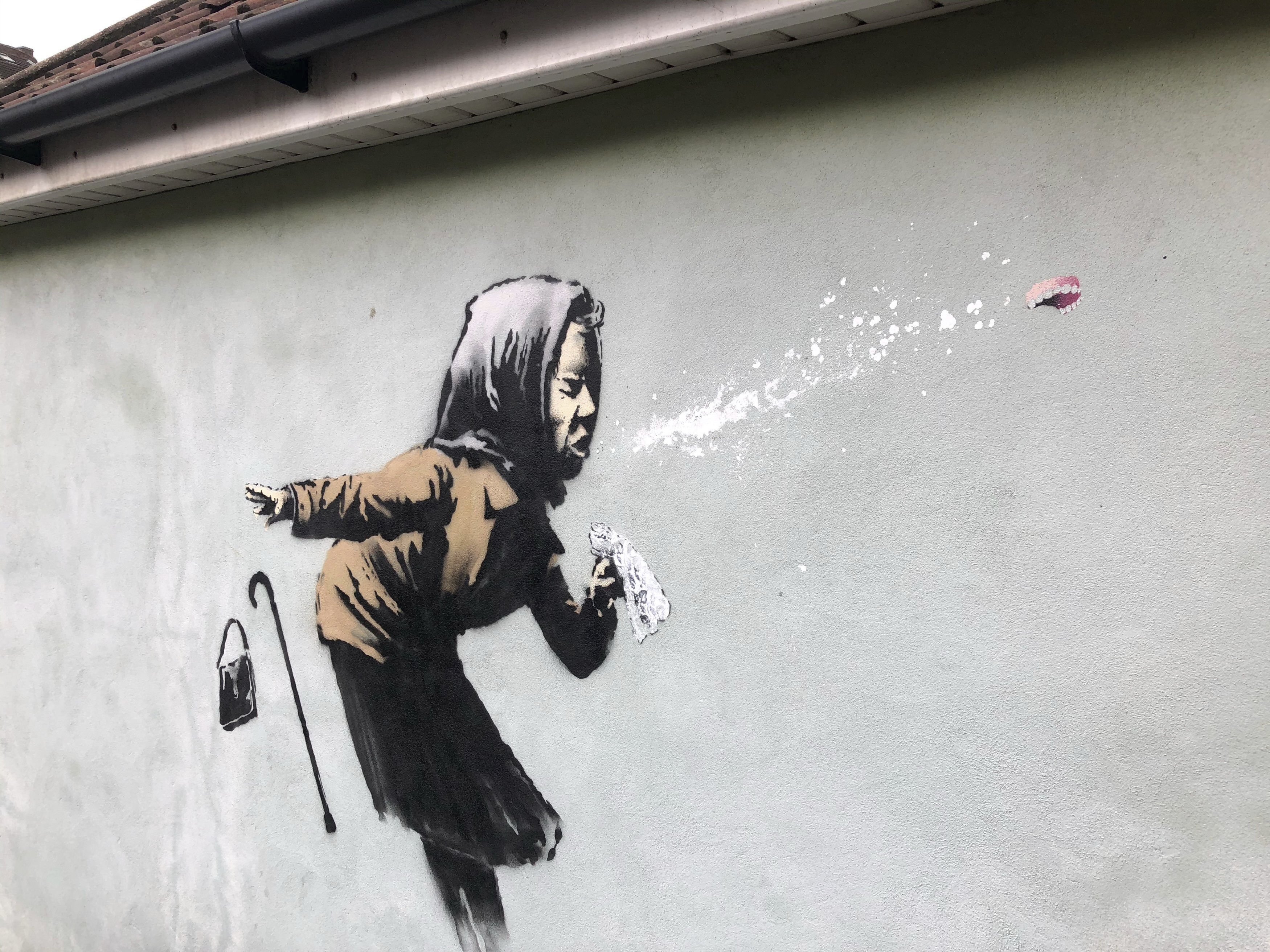 Image of article 'UK homeowner still selling property after Banksy mural appears: 'Hell of a shock'