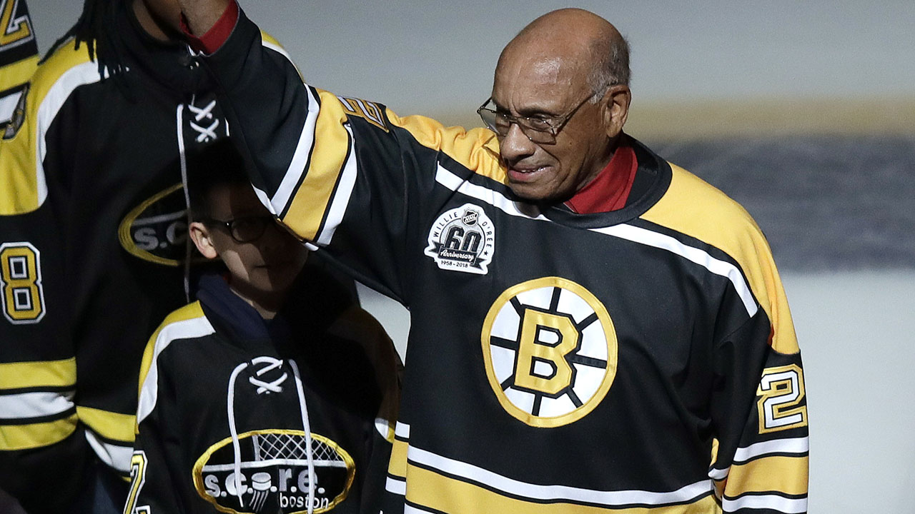 Bruins retiring jersey of NHL barrier breaker Willie O'Ree