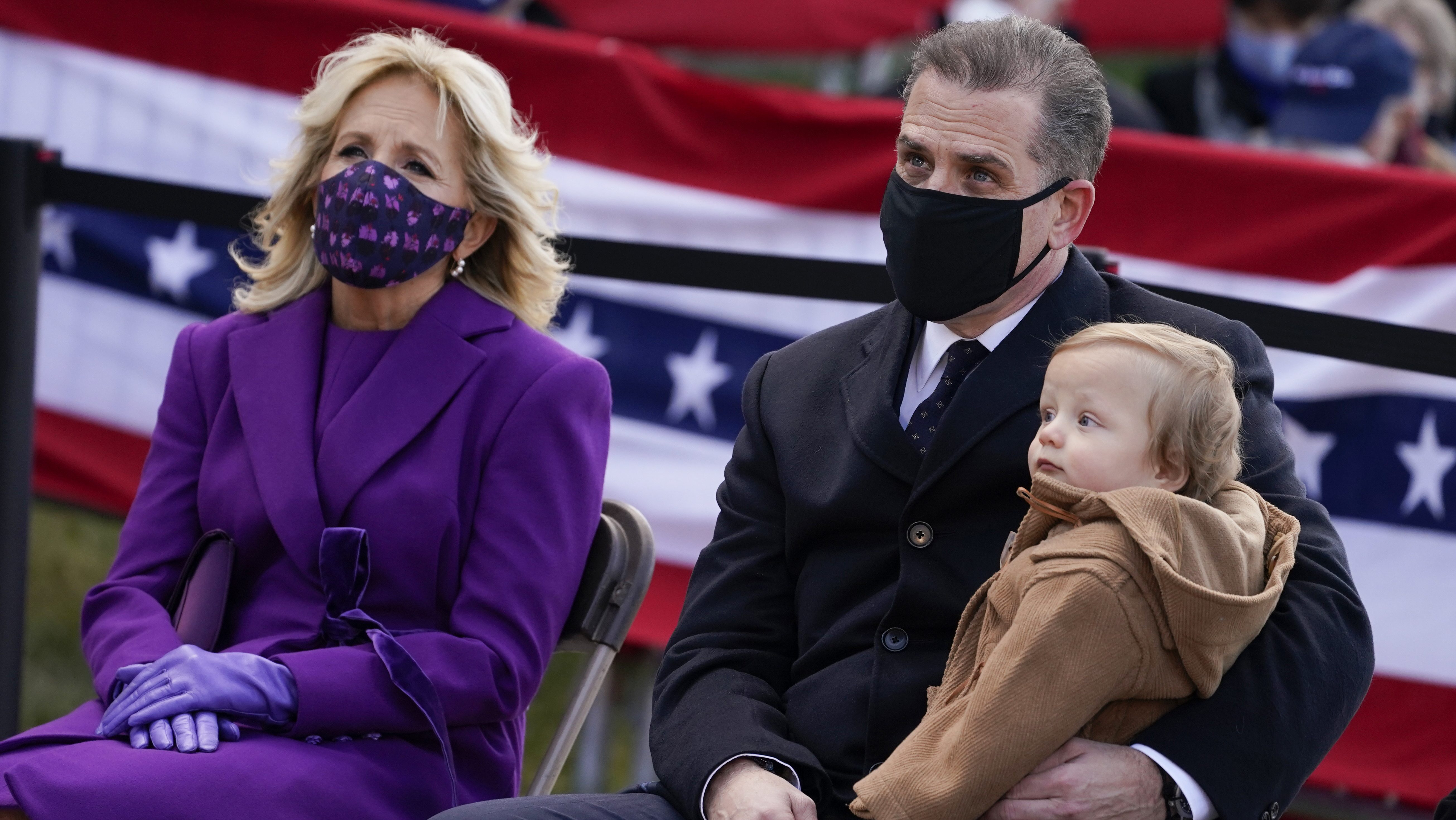 Hunter Biden appears for inauguration ceremonies amid federal...