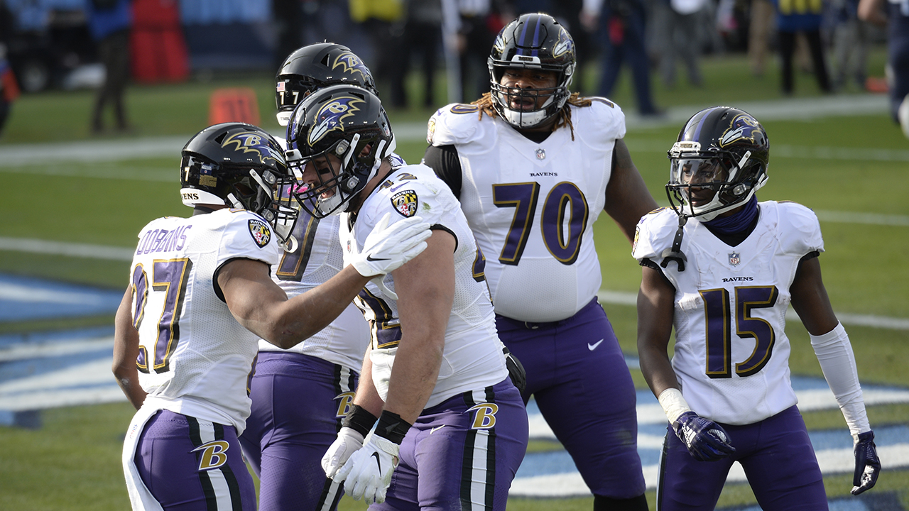 Ravens edge Titans in AFC wild card playoffs