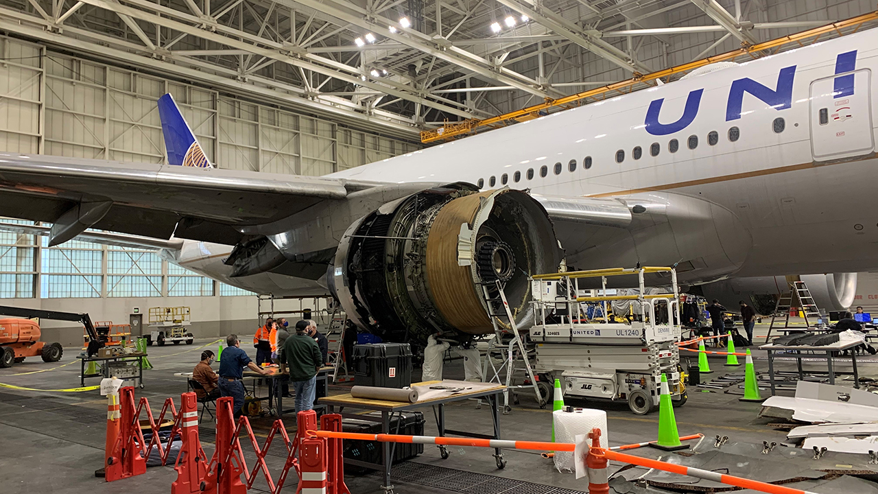 The National Transportation Safety Board on Monday said a maintenance records group will be formed to investigate the Boeing 777 engine's history after it failed and erupted into flames shortly after takeoff on Saturday.