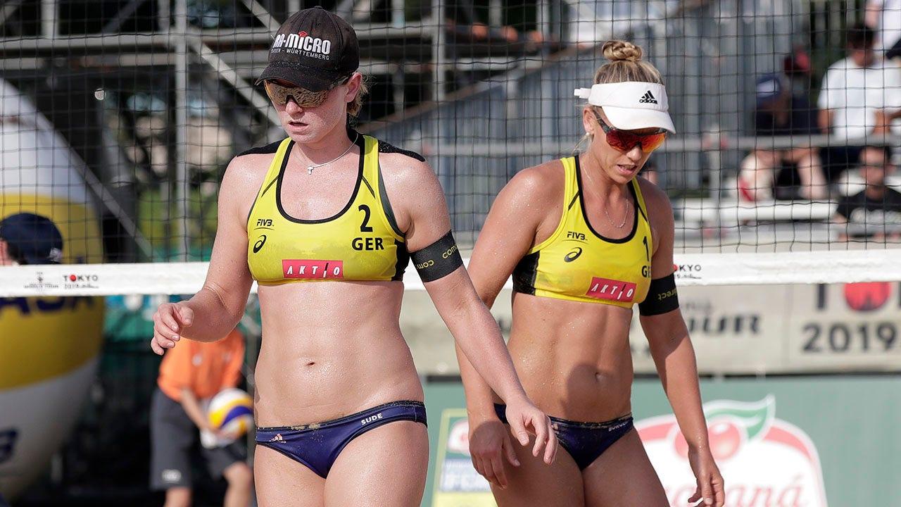 Julia Sude Pro beach volleyball players 8217 bikini furor sparks reversal ahead of Qatar tournament 8211 Fox News