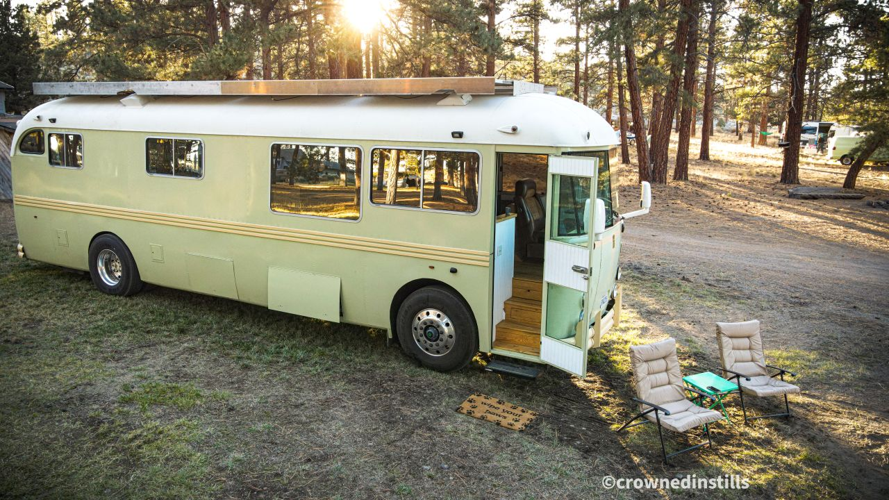 Man and wife renovate family-owned school bus, plan to recreate