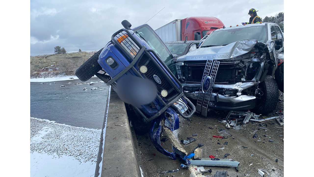 Montana massive 30-car pileup blamed on icy bridge