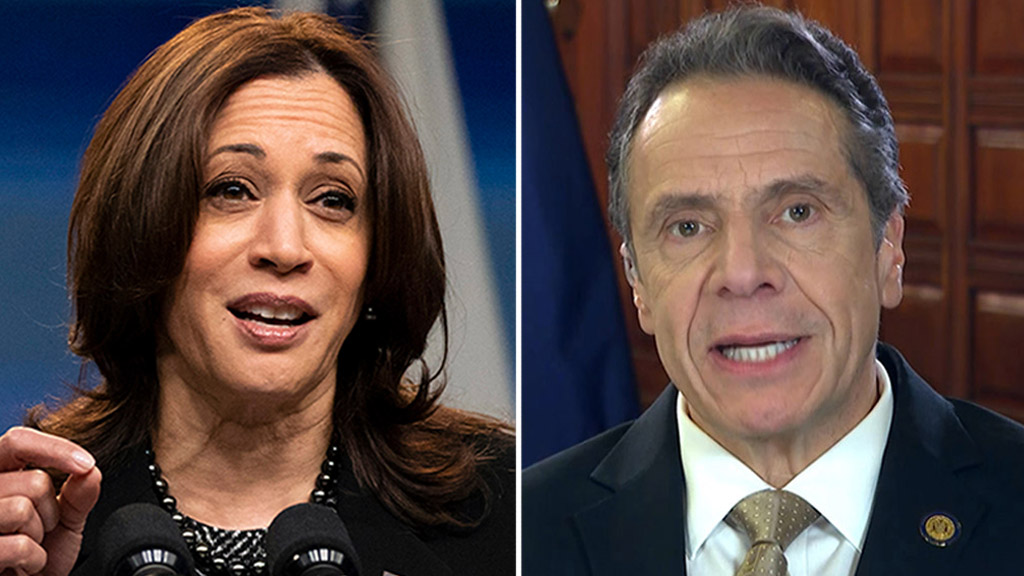 Kamala Harris ignores question on Cuomo sexual harassment scandal