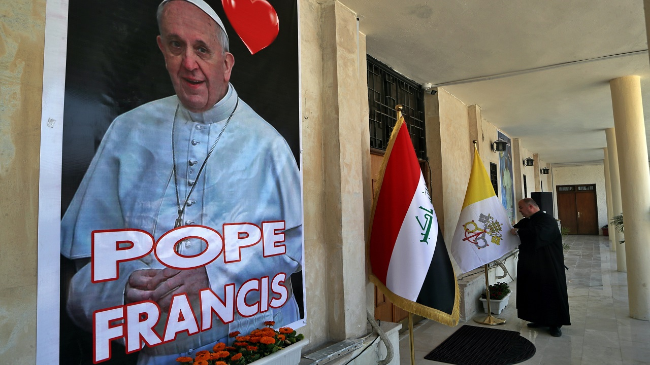 Pope Francis will still travel to Iraq despite rocket attack: 'We can't disappoint'