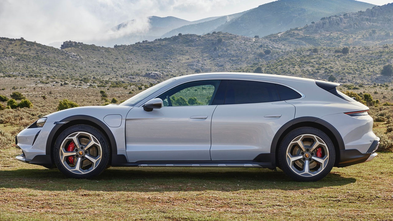 The 2021 Porsche Taycan Cross Turismo is the world