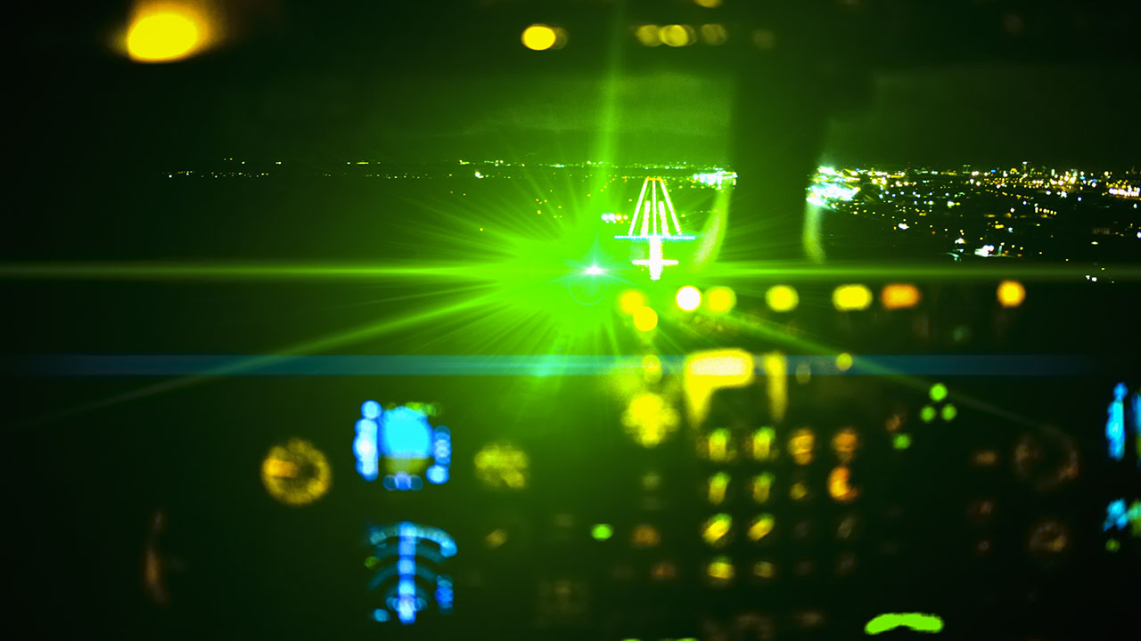 Montana man sentenced for shining laser pointer at landing plane - fox