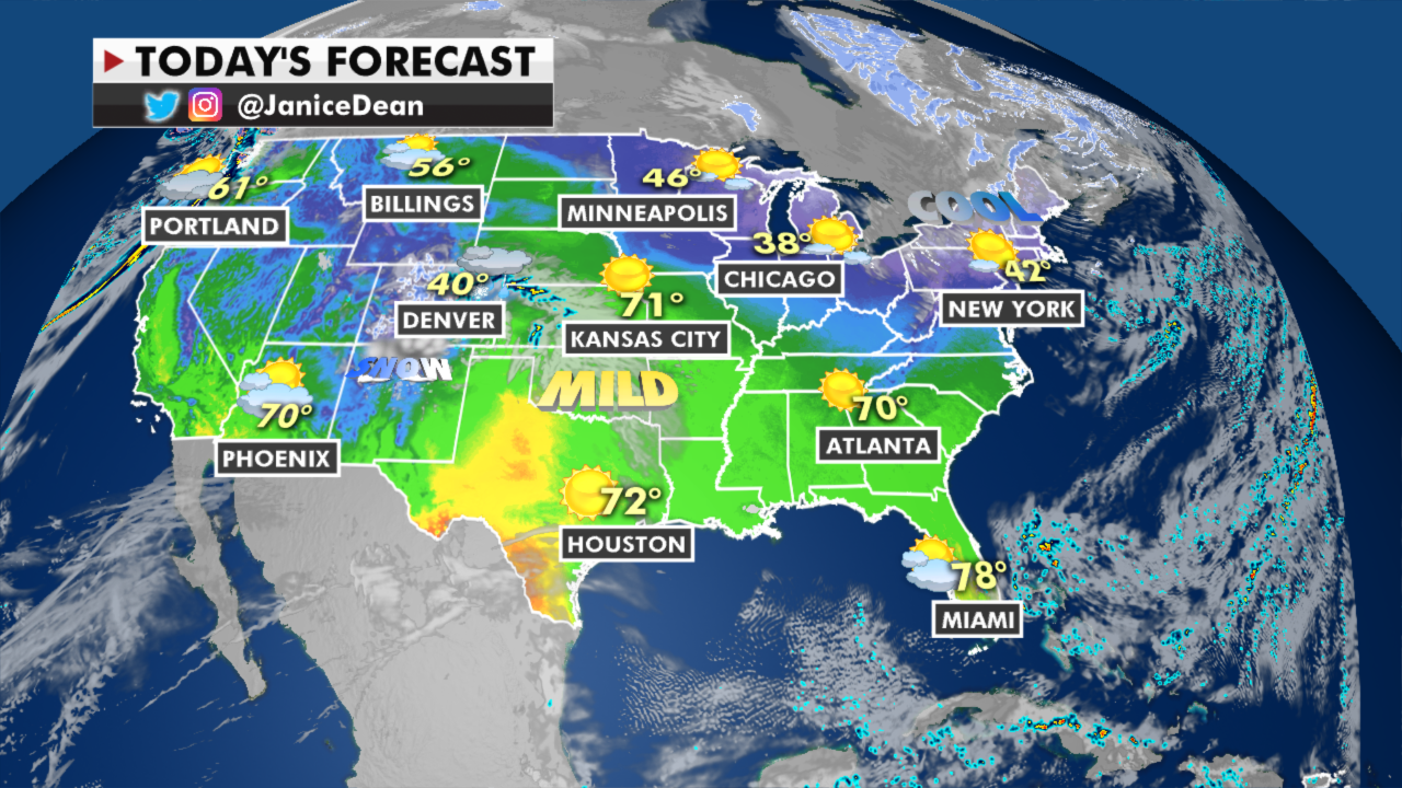 National forecast: Spring-like, warm temperatures are here, while parts of US see fire danger - fox