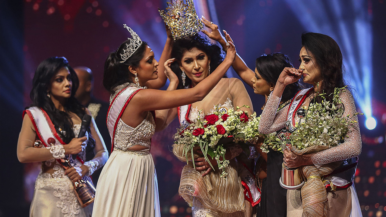 Mrs. World arrested for pulling crown from Mrs. Sri Lanka's head, allegedly causing injuries