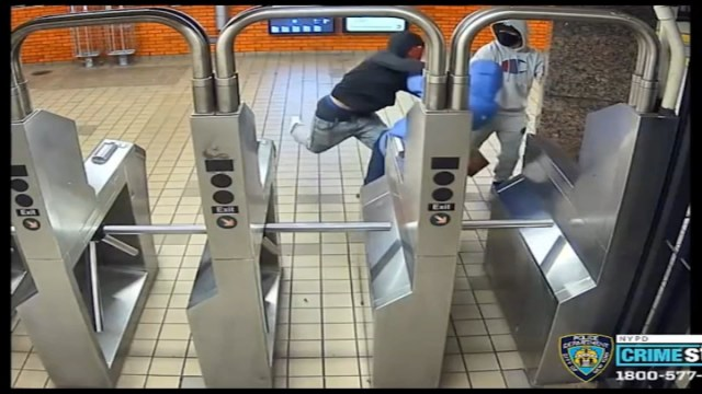 New York City subway slashing captured on video, police say