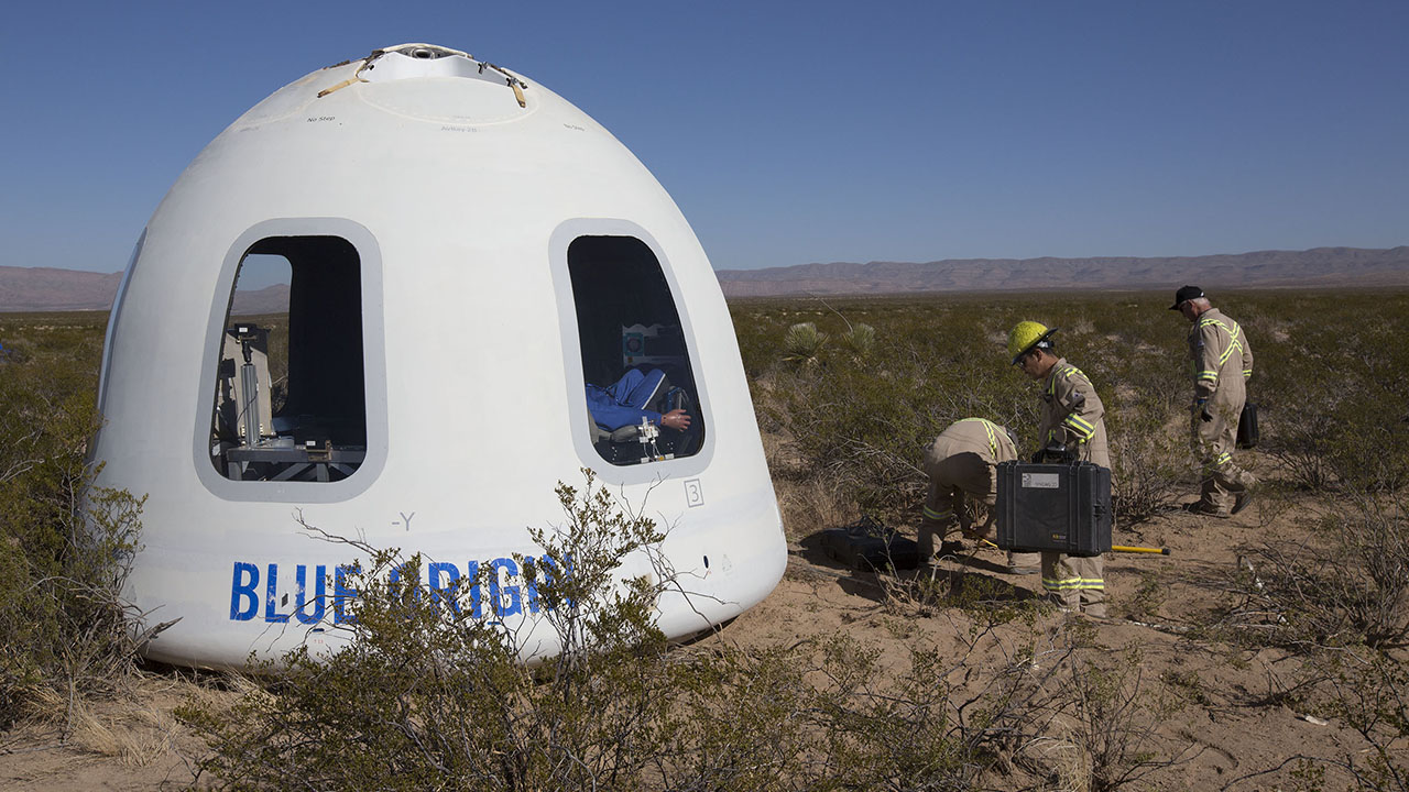 Bezos' Blue Origin flight: How you can bid for a seat