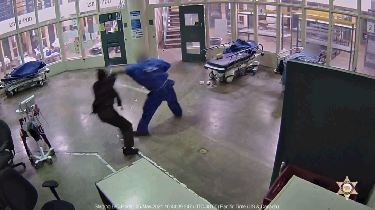 Los Angeles County inmate caught on video brutally assaulting female sheriff's employee