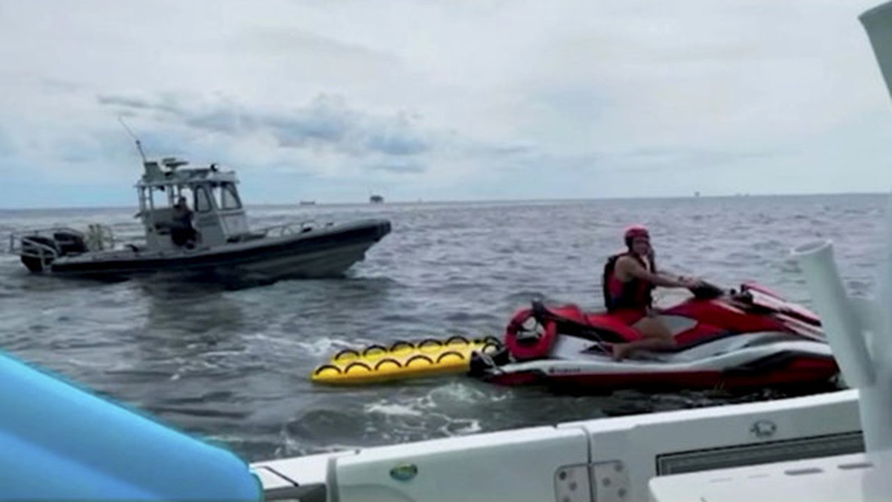 Beachgoers rescued after floating miles away from Alabama coast