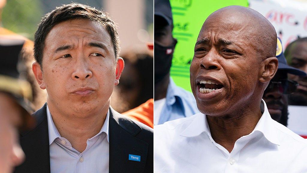 Crime wave dominates NYC mayoral debate as Yang touts key police endorsement