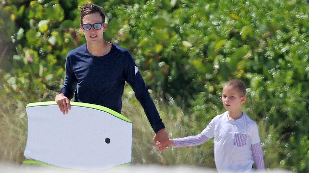 Jared Kushner spotted boogie boarding with sons in Miami as he, wife Ivanka prioritize 'family time'