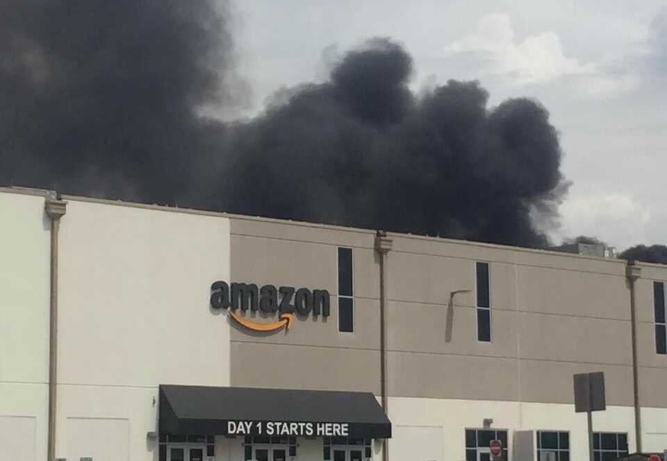 Amazon warehouse fire in Maryland ignited by solar panels: investigators