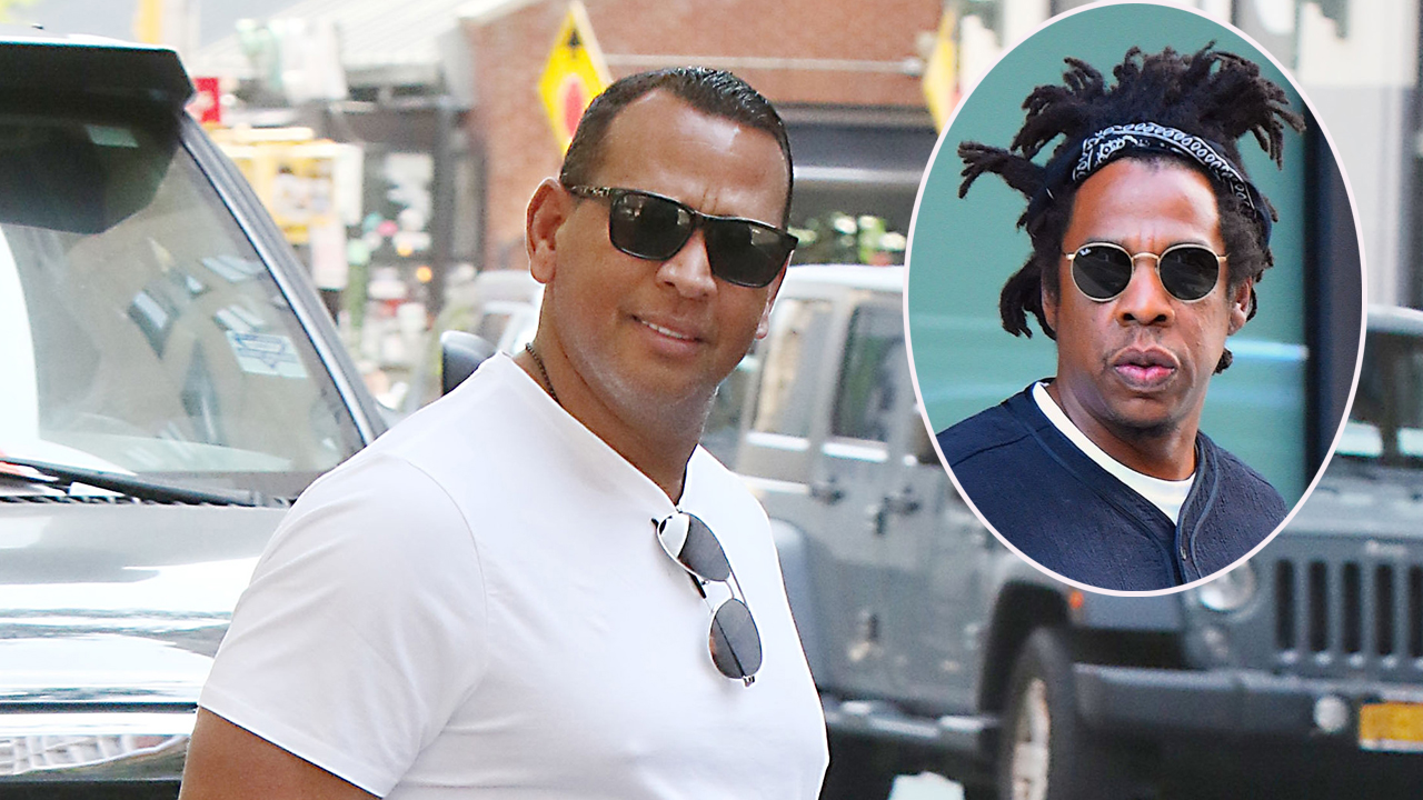 Alex Rodriguez chills with Jay-Z while surrounded by 'bevy of beauties'