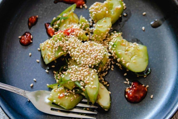 This simple cucumber salad recipe uses a brilliant technique