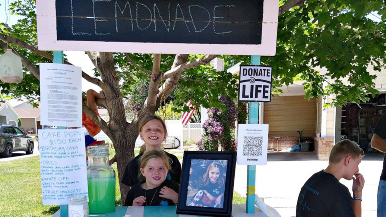 Girls launch lemonade stand to honor late sister who couldn't get a heart transplant