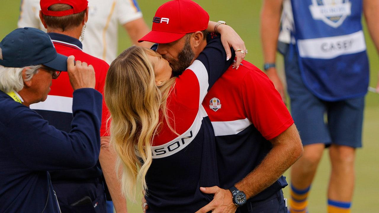 Dustin Johnson Paulina Gretzky celebrate as golfer makes Ryder Cup history – Fox News