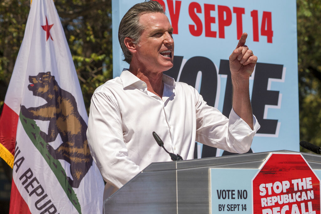 Newsom spotlights COVID, the issue that sparked the California recall, as he fights to save his job