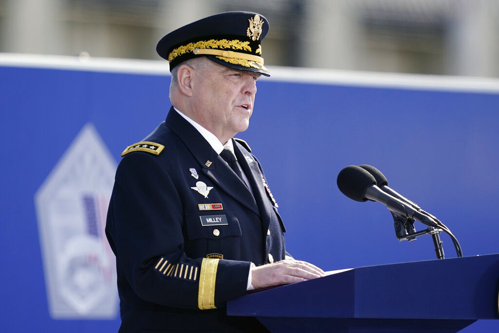 Gen. Milley honors US troops who served in Afghanistan, 9/11 victims: 'Your sacrifice was not in vain'