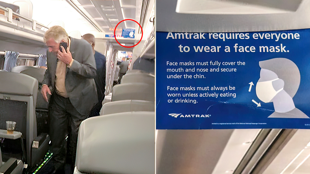 McAuliffe seen on Amtrak without mask, skirting federal mask mandates; passenger calls it a 'double standard'