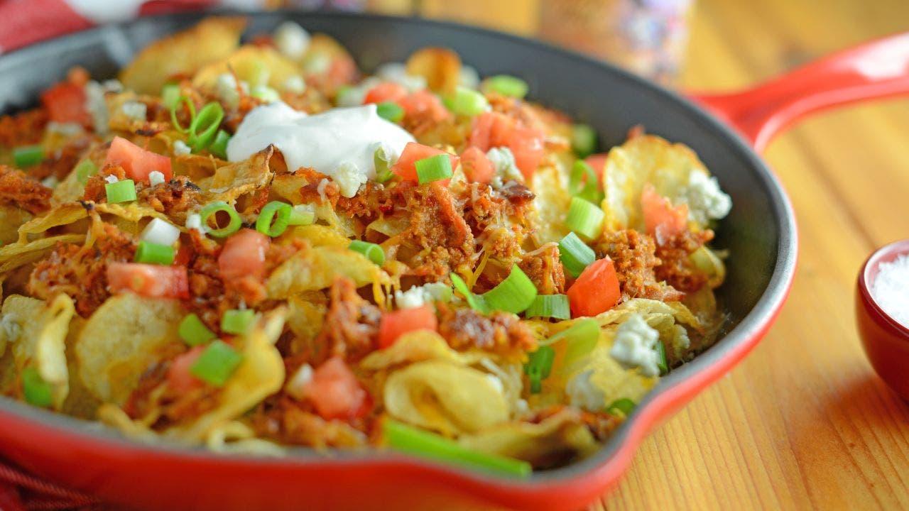 Pulled pork potato chip nachos: Try the recipe
