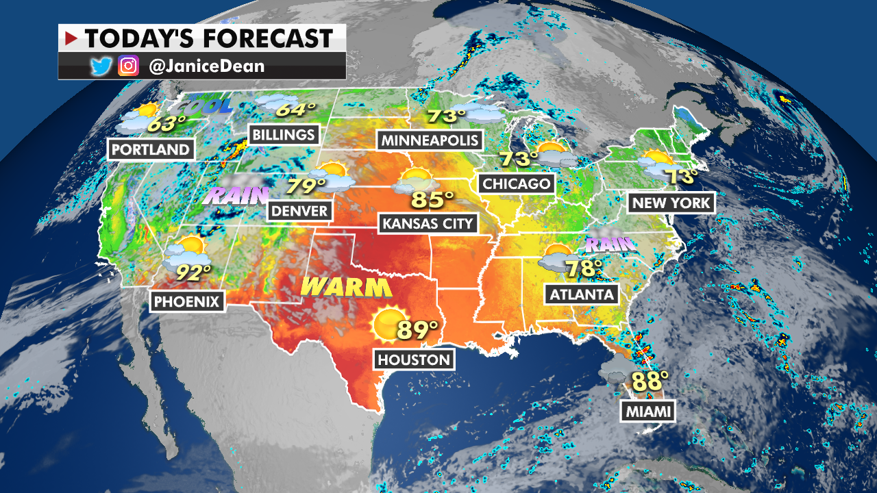 Showers, thunderstorms forecast over Southeast ahead of West's early-season winter weather